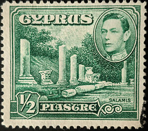 Stamp Cyprus SG152 1938 1/2Pia Small Marble Forum Salamis Used