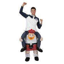 Mens Carry Me Scotsman Adult Fancy Dress Costume Oktoberfest Beer Festival Stag