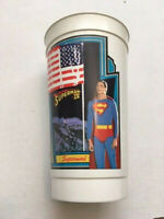 VINTAGE 1987 SUPERMAN IV 7/11 SLURPEE CUP - #1 (SUPERMAN) - FREE SHIPPING
