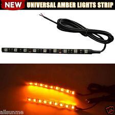 9LED Mini Strip Black led motorcycle Turn signal Universal Amber Lights Strip UK