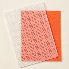 Stampin Up Boho Chic Textured Impressions Embossing Folder NIP