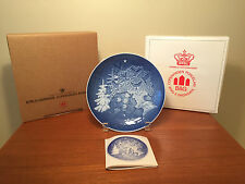 NEW 1981 B&G Bing and Grondahl Christmas Plate Direct From Factory Mint In Box
