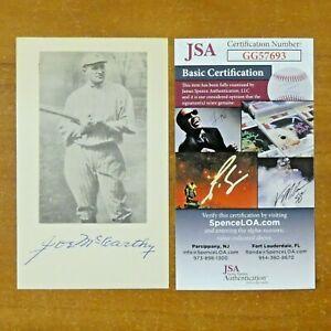 Joe McCarthy Baseball HOF NY Yankees Signed 3x5 with JSA COA