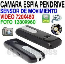 CAMARA ESPIA PENDRIVE VIDEO AUDIO FOTO CON SENSOR MOVIMIENTO CAMARA OCULTA USB