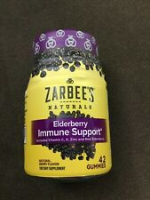 Zarbee's Naturals Adult Elderberry Vitaminc Full Immune Support Gummies 42