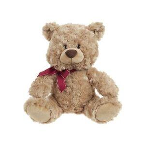 Rafaelo Valentines Day Bear Burgundy Ribbon Cuddly Bear Soft Toy Gift 10 Inch