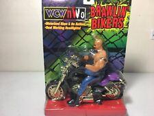 Bill Goldberg WCW NWO Brawlin' Bikers Action Figure & Motorcycle 1999 WWE Toy