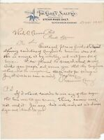 U.S. The Carey Salt Co. Kansas 1904 Lily Illustrated Conditions Letter Ref 41959