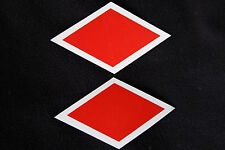 WW2 PATTERN CANADIAN 1ST DIVISION RED DIAMOND HELMET DECAL TRANSFER WATER SLIDE