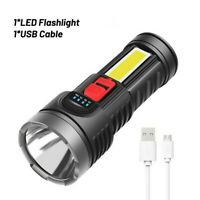 Super Bright 10000000LM LED Torch Tactical Flashlight USB Rechargeable W/Battery