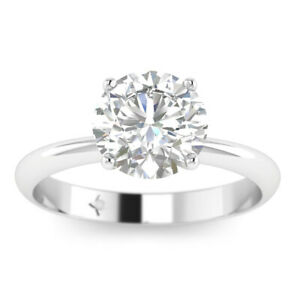 0.8ct D-SI1 Diamond Round Engagement Ring 950 Platinum ANY SIZE