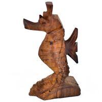 Hand Carved Ironwood Wood Folk Art Ocean Marine Life Seahorse Miniature Figurine
