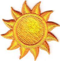 SUN, YELLOW & ORANGE Iron On Patch Summer Beach
