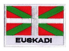 Ecusson patch badge patche drapeau Euskadi PAYS BASQUE 70 x 45 mm brodé à coudre