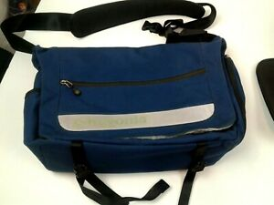 "Patagonia 18"" Cross Body Messenger Laptop Bag w/ Reflective Stripe"