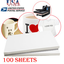 100 Sheets A4 Dye Sublimation Heat Transfer Paper for Polyester Cotton T-Shirt