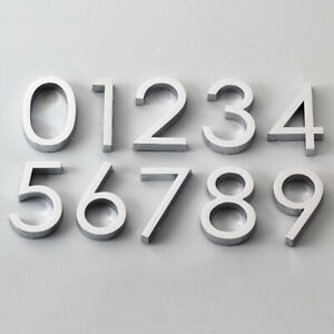 6cm Door Number Sign Stickers Self Adhesive 0-9 Digital Apartment Home Decor DIY