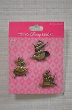 Tokyo Disneyland Resort Alice In Wonderland 3 Pin Set Rabbit Queen Bronze 115881