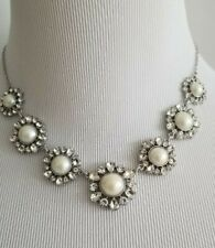 ANN TAYLOR PEARLIZED FLORAL STATEMENT NECKLACE