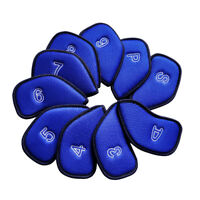 Mykepoda 10pcs Blue Golf Iron Club Cover Iron Headcover 3-9,P,S,A for Taylormade