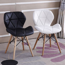 Black/White/Grey Eiffel Dining Chairs Wooden Legs Office Home Desk Chair New