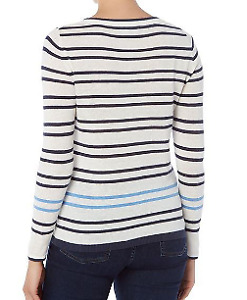 Crew Clothing Company Classic Striped Holbeck Jumper Size 12 *REF33