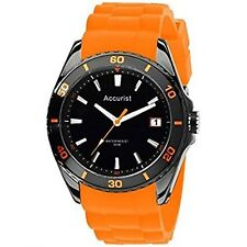 Accurist Men's Watch with Orange Silicone Strap MS761OB RRP £70.00