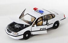 Spedizione LAMPO CHEVROLET CHEVY IMPALA 2001 Police Welly Modello Auto 1:24 NUOVO OVP