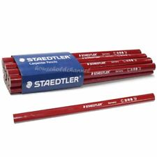12 pcs STAEDTLER Oval Shaped Wood Carpenter Pencils