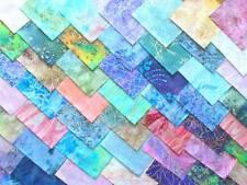 4-Inch Cotton Fabric Squares, Quilting & Crafts; Pkg of 50; Metallic Batik Asst