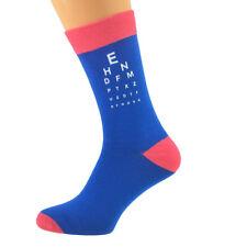 Eye Test Design Mens Black Novelty Socks Optician Doctor Gift UK 5-12