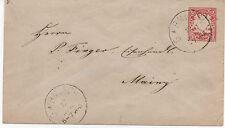 BAVIERE (BAYERN). 1877.ENTIERS POSTAUX. OBLITERATION: GARMISCH , verso MAIN