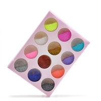 12 Colors/Set Nail Art Glitter Powder Dust Decor Set For Acrylic Tips UV Gel DIY