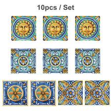 10Pcs Self Adhesive Tile Floor Wall Decal Sticker Bathroom Kitchen Waterproof