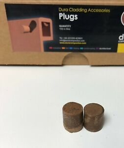 Teak Timber Composite BLANKING PLUGS Pocket Hole Plug SCREW CAP COVER 100pc WPC