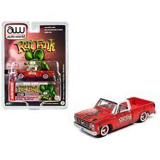 Auto World 1 64 Rat Fink 1978 Chevy Cheyenne 10 Rat Rod CP7723A Pick up Red