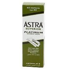 6X Astra Superior Platinum Double Edge Razor Shaving Blades-BRAND NEW-FAST SHIP