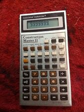 Construction Master II Calculator | Consolidated Industries | Vintage