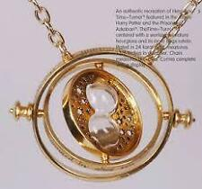 Harry Potter Time Turner Necklace Hermione Granger Rotating Hourglass Pendent NY