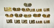 WWII and Other US Army Officer Screw Pin and Clutch Back Lapel Pins Insignia