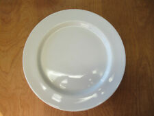 "Pottery Barn PB MODERN Dinner Plate 11"" All White Rim Smooth 1 ea 3 available"