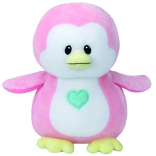 NEW BABY TY BEANIE BOOS REGULAR - PENNY THE PINK PENGUIN 32156