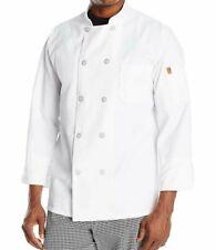 Chef Designs Men's Rk Ten Pearl Button Chef Coat, White, X-Large
