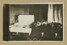 Post Mortem Man or Woman in a Casket - Death Funeral open coffin photo 7 3/4 x 5