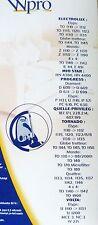 WPRO TO213MW sacs aspirateur ELECTROLUX TORNADO VOLTA PROGRESS MIO QUELLE (x8)