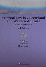 Criminal Law in Queensland and Western Australia by John McKechnie, Suzie Linde…