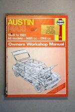 AUSTIN MAXI (1969-1981) WM28 - HAYNES WORKSHOP MANUAL -