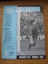 14/10/1967 Coventry City V Tottenham Hotspur (Légère Marque sur le devant). objet en ve