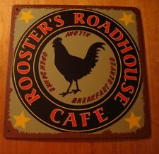 Rooster Cafe Country Kitchen Farm Sign Decor Chicken Rustic Primitive Style NEW