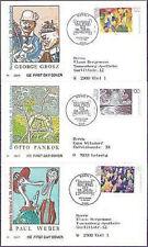 BRD 1993: Gemälde! FDC der Nr. 1656-1658! Bonner Sonderstempel! Gelaufen! 1701